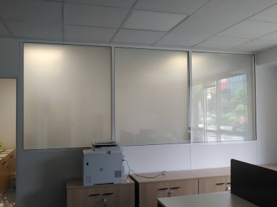 Cloison de bureau en verre
