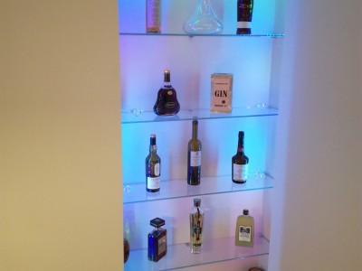 Réalisation d'un bar en verre