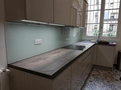 Crédence de cuisine en verre à Paris 17